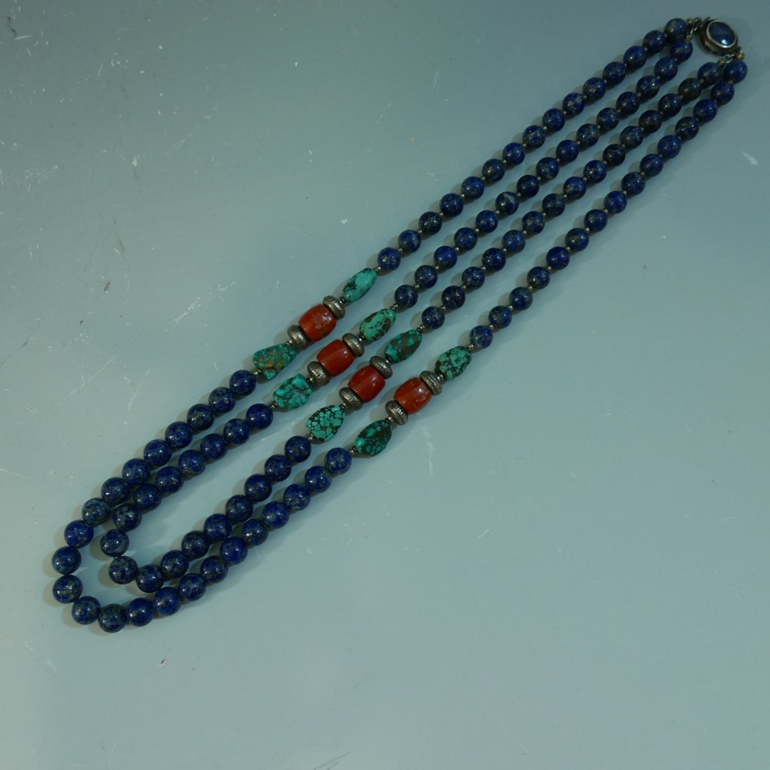 MAGNIFICENT CORAL TURQUOISE & LAPIS LAZULI BEADS