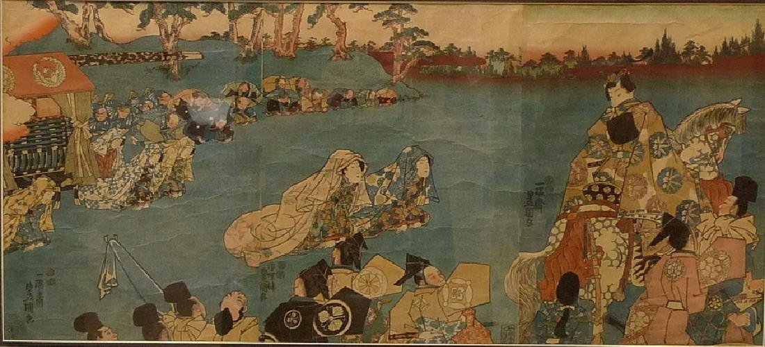 UTAGAWA KUNISADA (1786 - 1865).  JAPANESE UKIYO-E