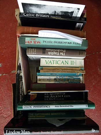 A quantity of books on prophecies and predictions, celt