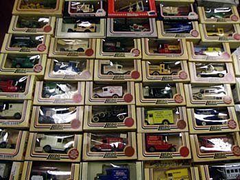 A collection of Lledo boxed vehicles including models f