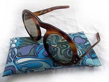 A cased pair of faux tortoiseshell 1960s Pierre Cardin