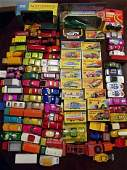 A collection of Matchbox Lesney cars including 21 boxed