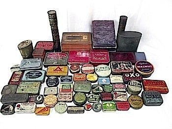 A collection of various tins, boxes, ephemera, etc - ma