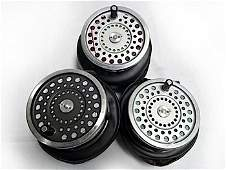 A pair of cased Hardy Marquis No 2 salmon fly reels, wi