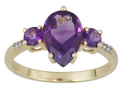 10k YG Amethyst Ring