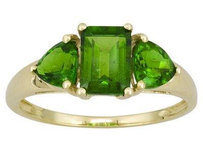 10k YG Chrome Diopside Ring
