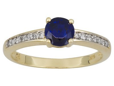 14k YG Kyanite Solitaire Ring