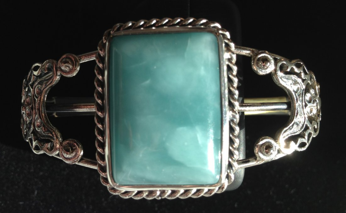 Vintage Larimar Cuff Bracelet