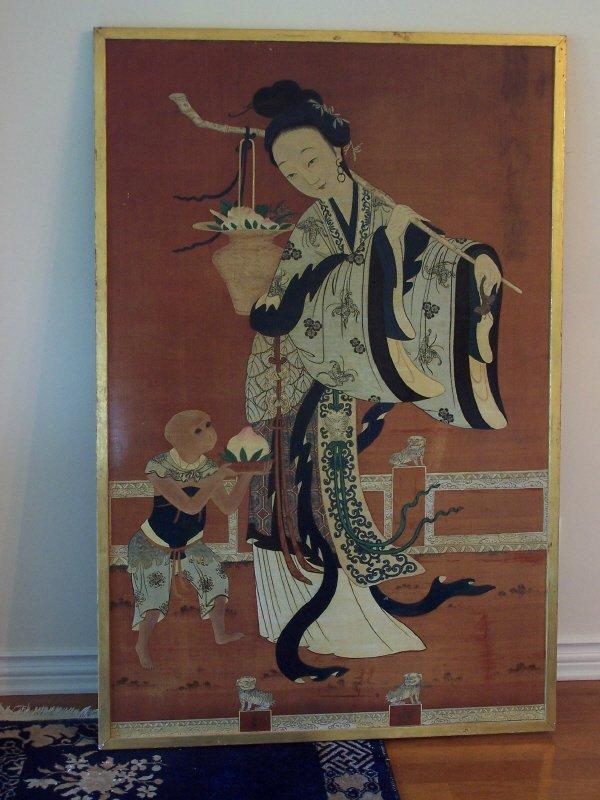 603: Japanese Oil on Wood Panel