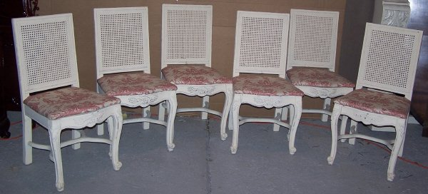 604: Cane Backed Dining Chairs
