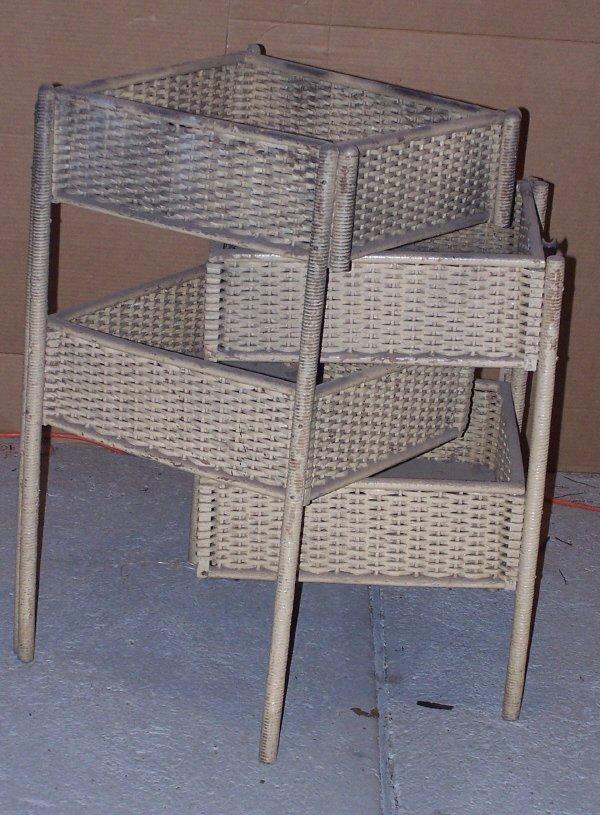 608: Wicker Sewing Basket