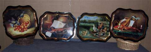 617: Painted Metal Trays