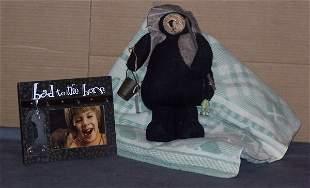 Teddy Bear,Blanket and a Photo Frame