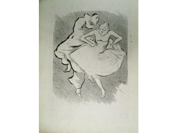 1001: H A Ibels Dancers Lithograph