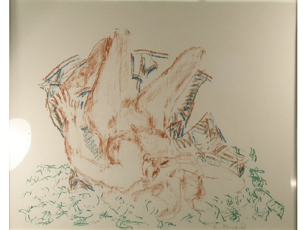 1004: British Drawing Nude Signed Tom Merrifield