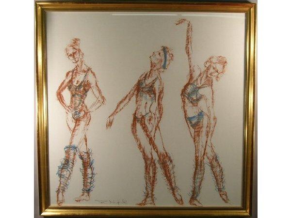 1005: British Drawing Ballet Dancers Tom Merrifield