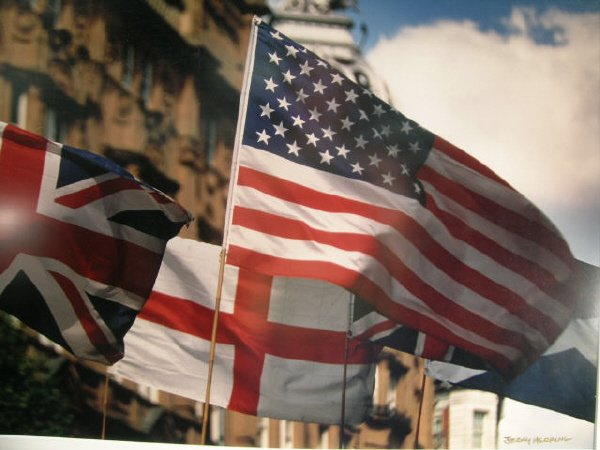 1006: Jerry Herring US Britain Flag Art Photograph