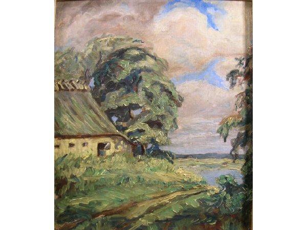 1009: Denmark 1940's Landscape Painting