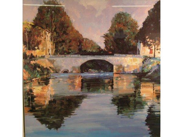 1016: Schoon Print Bridge Framed
