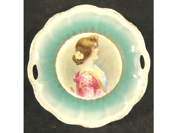 1021: Portrait Plate Signed Germany