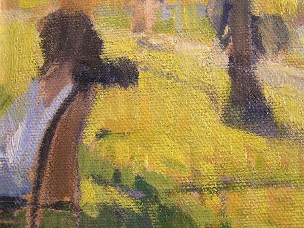 1182: Tim Deibler Oil Painting, Park Scene - 3