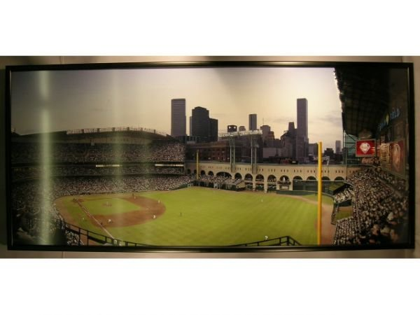 1115A: Enron Field Opening Day Baseball Photograph Mura