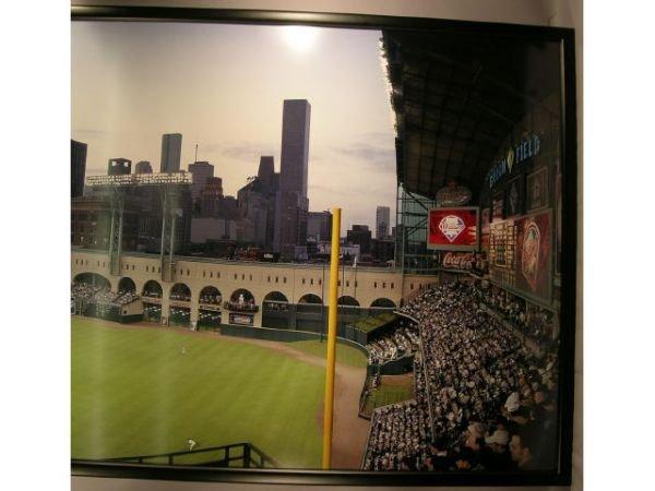 1115A: Enron Field Opening Day Baseball Photograph Mura - 2