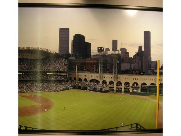 1115A: Enron Field Opening Day Baseball Photograph Mura - 3