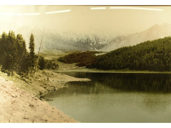 108: Serigraph Landscape Mountain Lake
