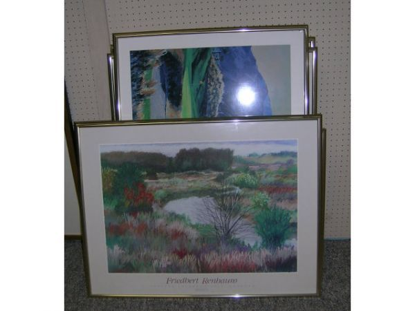 135: Misc. Framed Prints and Posters Lot