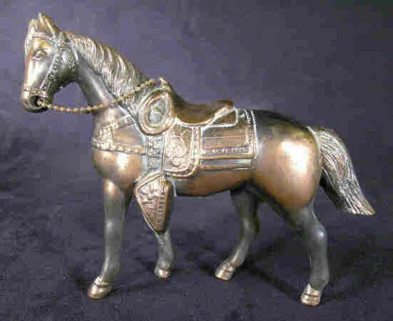 606: Die Cast Horse, Copper Finish
