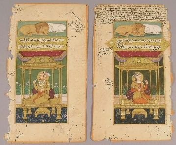 615: Illustrated Manuscript Pages Indian