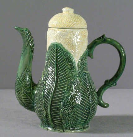 620: Majolica Corn Shape Coffee Pot