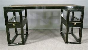 806: Chinese Pedestal Desk and Chair