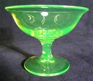 Vaseline Glass Sherbet Dessert Cup