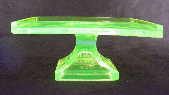 1213: Gum Rest Vaseline Glass Clarks Teaberry Gum - 3