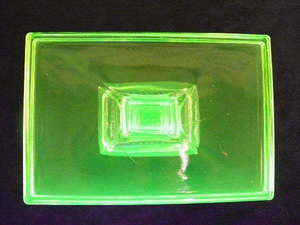 1213: Gum Rest Vaseline Glass Clarks Teaberry Gum - 4