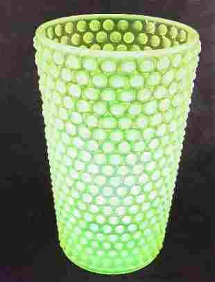 Imperial Hob Nail Vase Vaseline