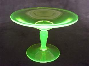 Cambridge Vaseline Glass Comport