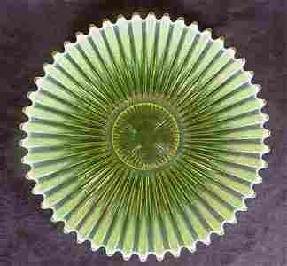 1225: Fostoria Heirloom Opalescent Star Burst Plate