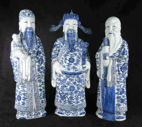 1418: Chinese 3 Wise Men Figures