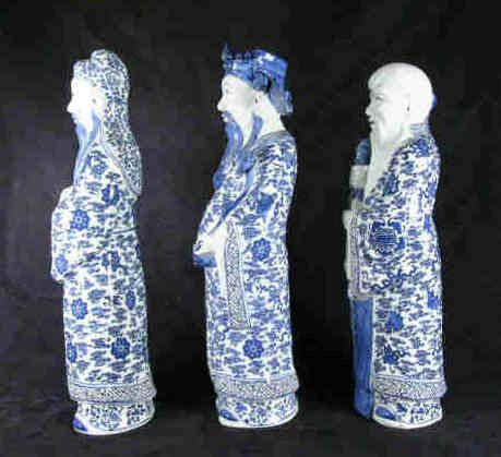 1418: Chinese 3 Wise Men Figures - 2