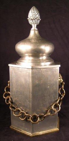 500: Pewter Ice Bucket Vintage Barware