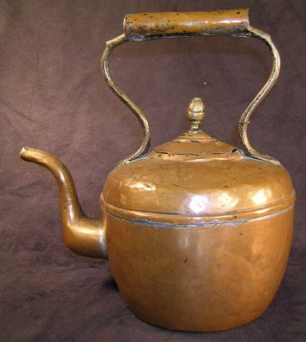 505: Antique Copper Tea Kettle