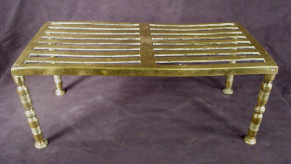 512: Brass Hearth Stand or Foot Stool