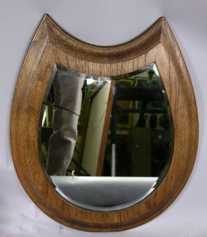 514: Horseshoe Shaped Oak Mirror