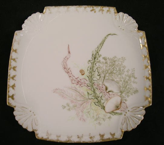 522: Art Nouveau Plate Hand Painted 1889