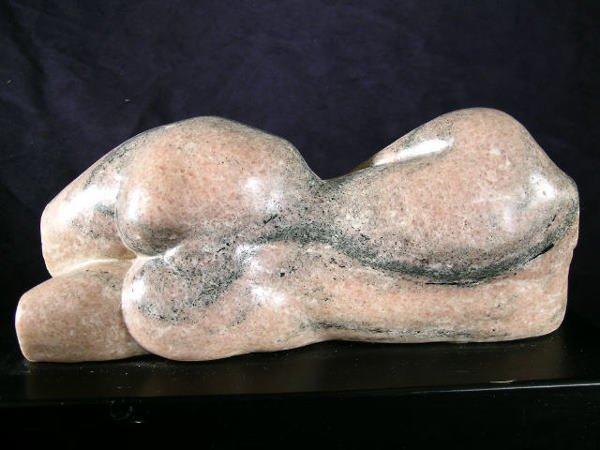 606: Marble Reclining Nude Torso