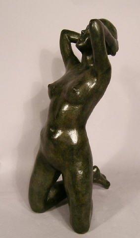 608: Bronze Nude on Knees