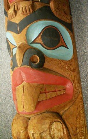 "727: LELOOSKA Northwest Indian Totem Pole 117"" - 10"